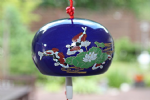 Ceramic Wind Chime, Blue Fish, 7cm